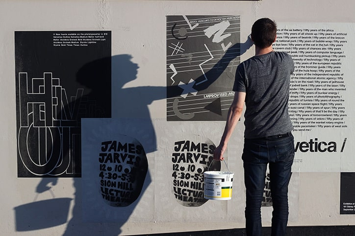 Bath School of Art alumni graphic poster and typographic design collaboration