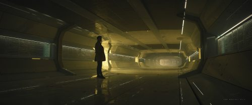 Jan Urschel – Futuristic World – Concept Art – Hallway