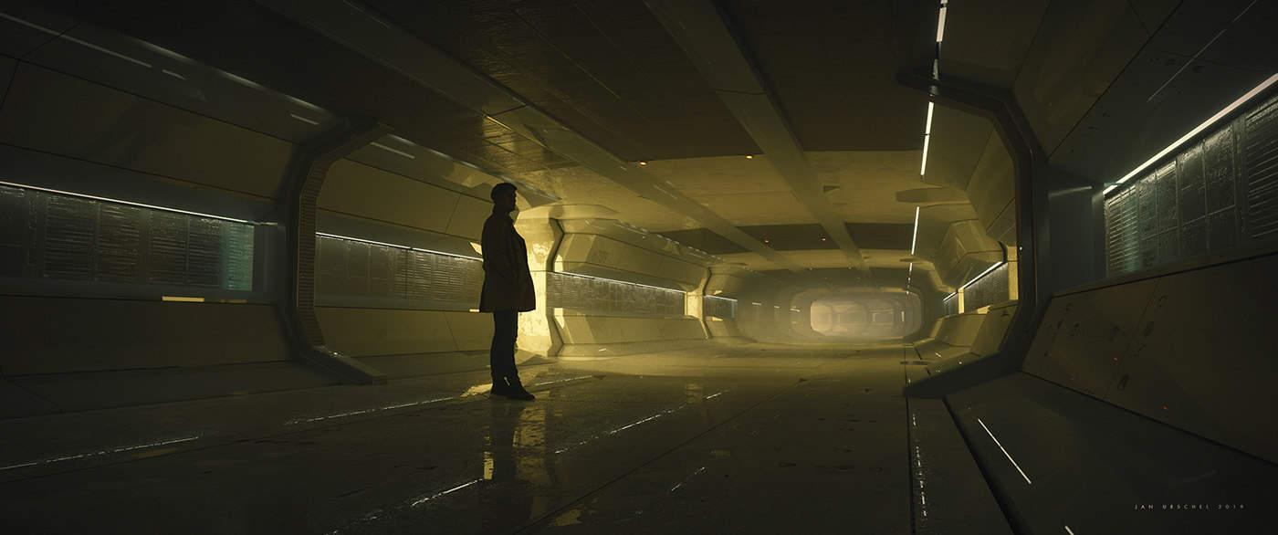 Jan Urschel – Futuristic World – Concept Art – Hallway