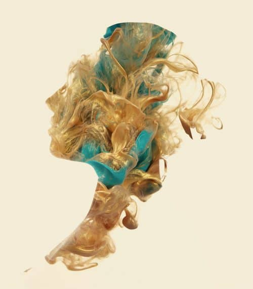 Photo Manipulation – Alberto Seveso – Oil on Head – Ink in head silhouette