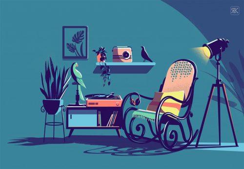 RANGANATH KRISHNAMANI – Illustrations – Bangalore, India – Rocking Chair