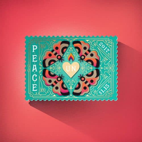 United Nations Illustrated Stamps – Peace