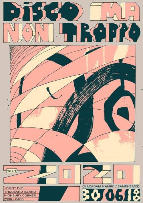 Graphic Design – Al White – Typographic Posters – DIsco Ma Non Troppo 2020