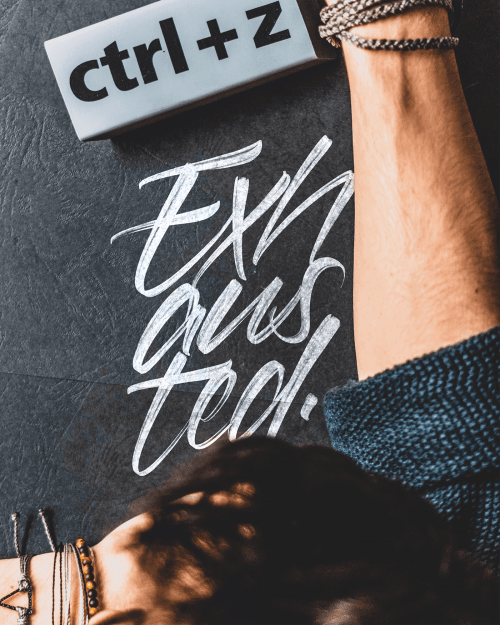 David Glissman – Handwritten Script on iPad – Exhausted