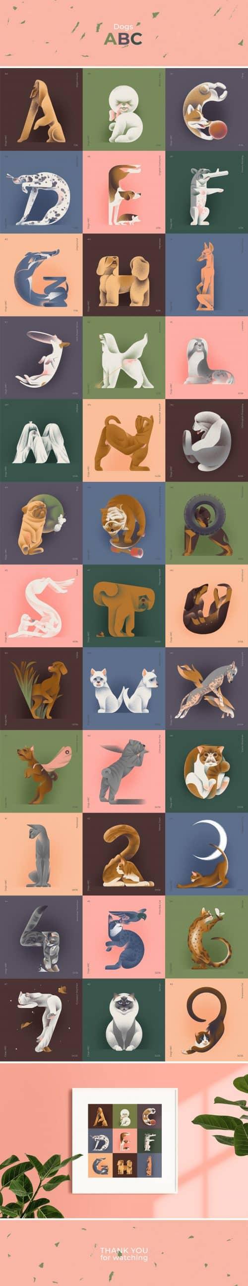 Dogs ABC by Jekaterina Budryte | Illustrative Type