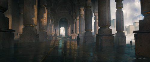Jan Urschel – Futuristic World – Concept Art – Temple Pillars