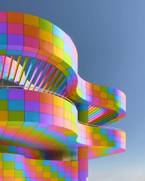 Ramzy Masri – Vibrant Rainbow Spectrum Edits – Curved Building