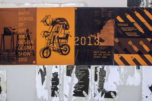 Bath School of Art alumni graphic poster and typographic design collaboration