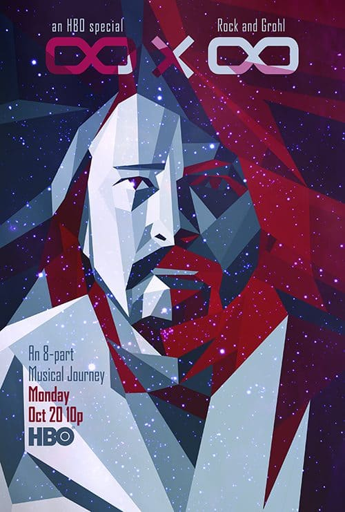 Key Art by Jason Burnam – HBO 8×8 Foo Fighters – Rock Band Concert Movie Docume ...