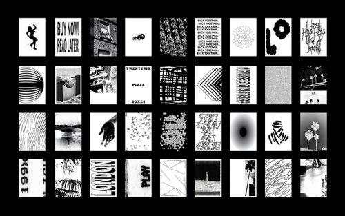 Catalogue studio – Black and White Poster Design Magazine Spread