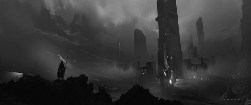Jan Urschel – Futuristic World – Concept Art – Black and White