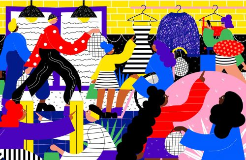 Illustrations by Ana Jaks – Dressing Room
