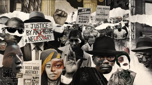 Godfather of Harlem Main Title Sequence – Collage Mixed Media Style Frames
