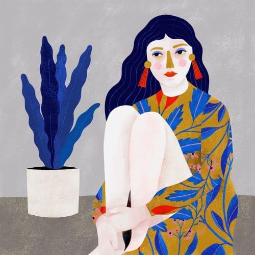 Illustrations by Carmi Grau – Woman and Plant