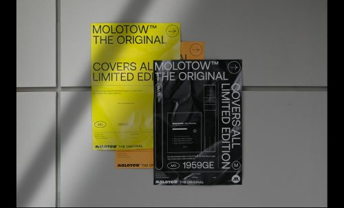MOLOTOW™ Covers All Limited Edition – Minimal Typographic Poster Design