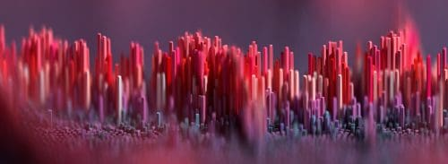 Geometric Abstract Landscapes made in 3D