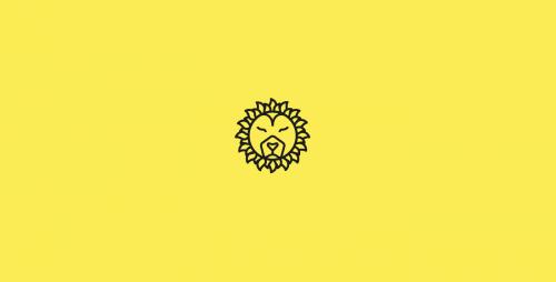 The Summer Hunter Minimal Lion Sun Logo Design