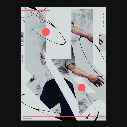 Graphic Design | Abstract Vibrant Brutalist Style Mixed Media Posters