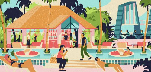 Branding – Kandima Resort Illustration