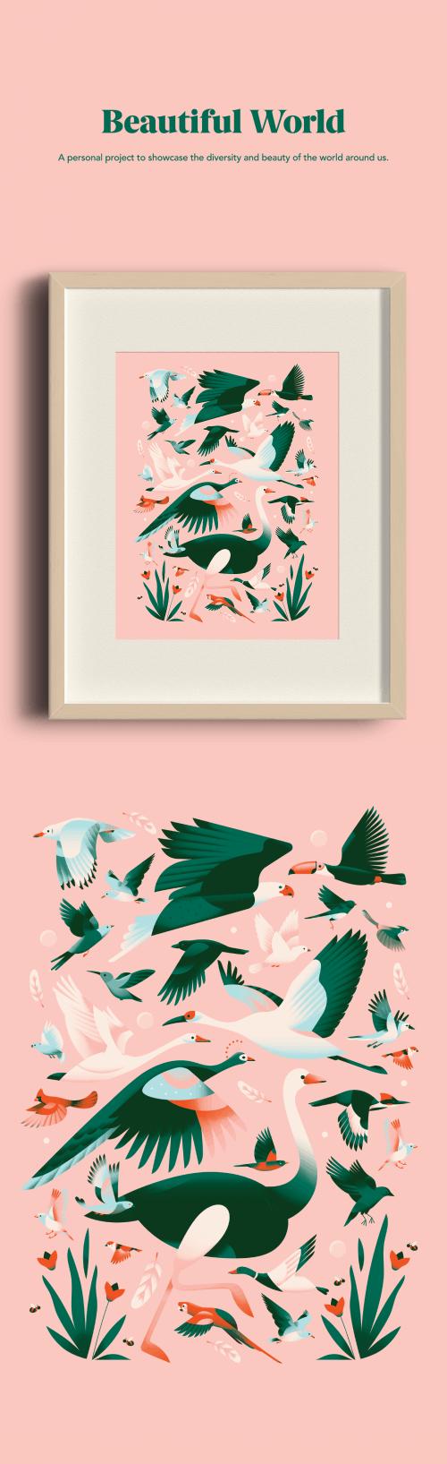 Beautiful World Illustrations – Birds