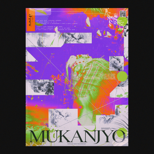 Graphic Design | Abstract Vibrant Brutalist Style Mixed Media Posters – Mukanjyo