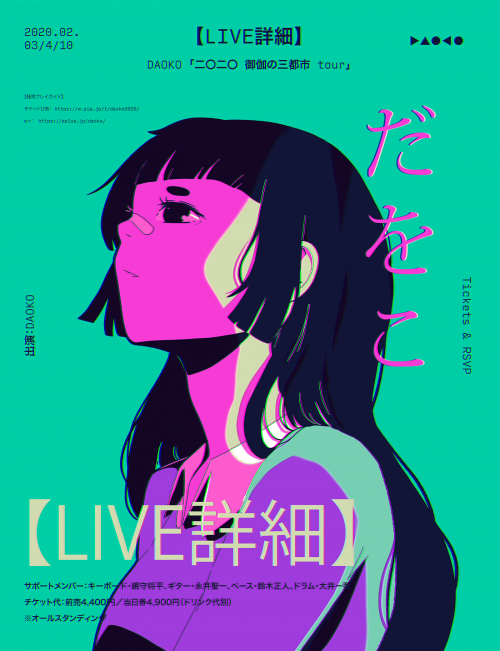 Anime Inspired Illustrated Posters by Mercedes Bazan