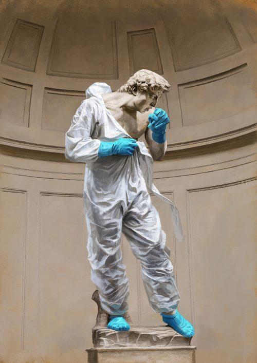 Coronavirus Cough – Italy – Michelangelo's David