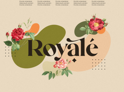 Mikela Royale Mixed Media Illustrated Collage Typographic Design