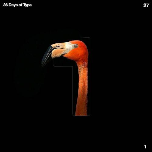 Sushante Bhosle 36 Days of Type Design – 1 Flamingo