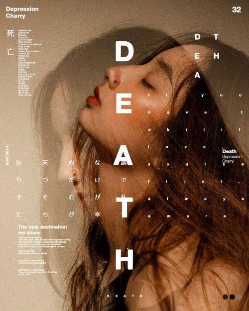 Sushante Bhosle Poster Design – Double Exposure – Death