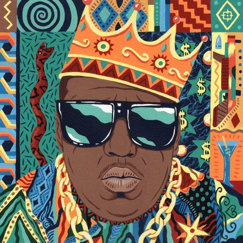 Saddo – Favorite Rapper Portraits Mosaic Collage Illustration – Biggie