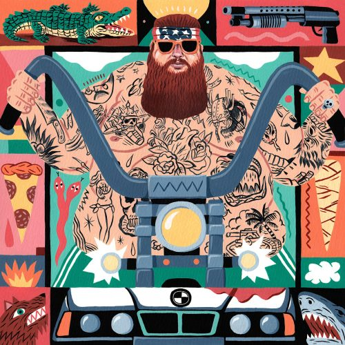 Saddo – Favorite Rapper Portraits Mosaic Collage Illustration – Action Bronson