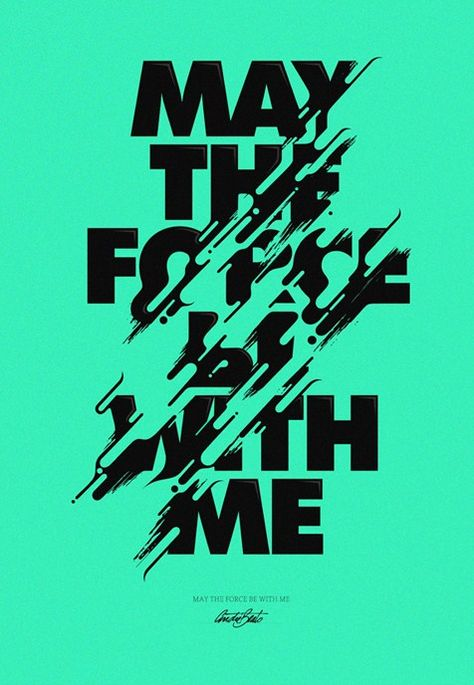 Modern Minimal Typography Design Posters – May the Force be with me