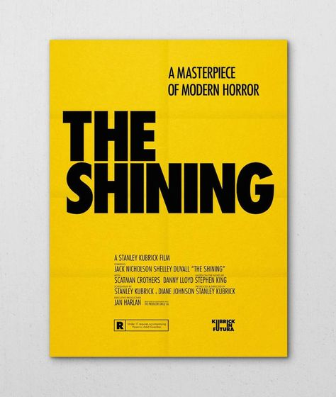 Modern Minimal Brutalist Typographical Design Posters – The Shining