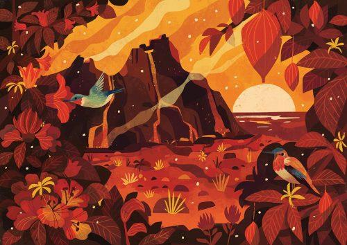 Hawaii Illustrations – Volcanic Island