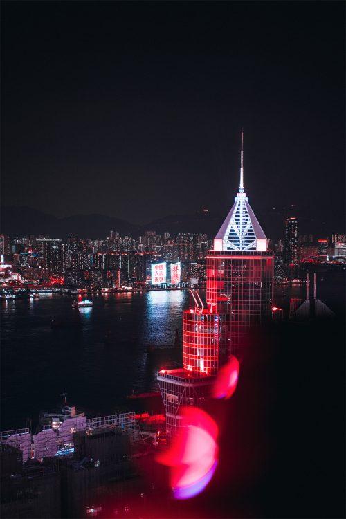 Hong Kong H-Art City Street Night Photography