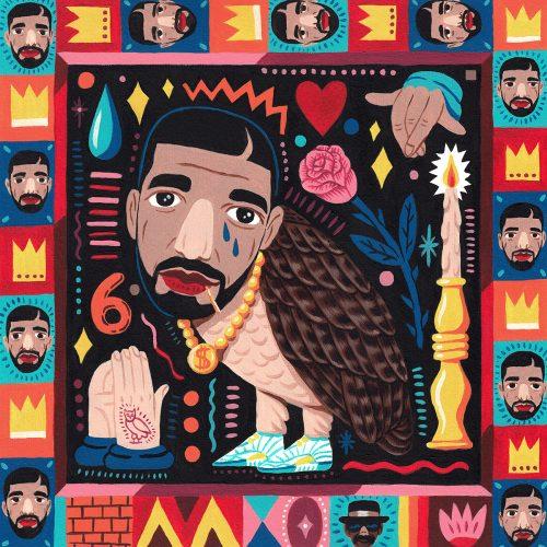 Saddo – Favorite Rapper Portraits Mosaic Collage Illustration – Drake