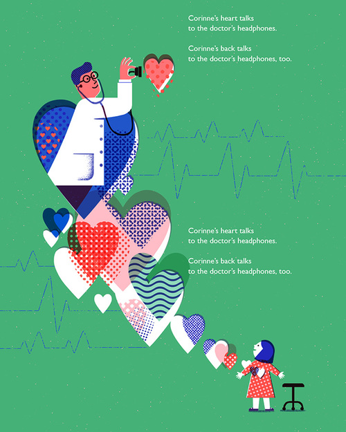 Illustrations by South Korean Artist Ahra Kwon – Heart Beat