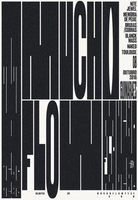 Modern Minimal Brutalist Typographical Design Posters – Macho Flow Fest