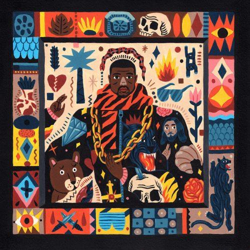 Saddo – Favorite Rapper Portraits Mosaic Collage Illustration – Kanye West