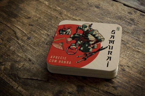 Japanese Samurai Illustrations – bar coasters