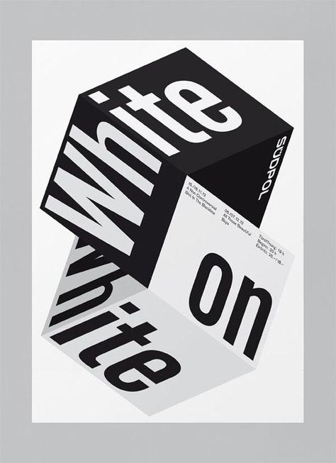 Modern Minimal Brutalist Typographical Design Posters – White on White
