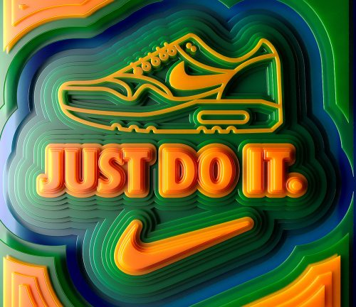 Nike – Just Do It – 3D Vector Contours Type