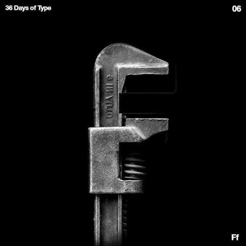 Sushante Bhosle 36 Days of Type Design – F Wrench