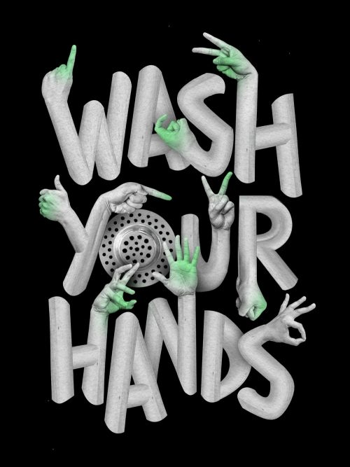 Coronavirus COVID 19 – Wash Your Hands Typography