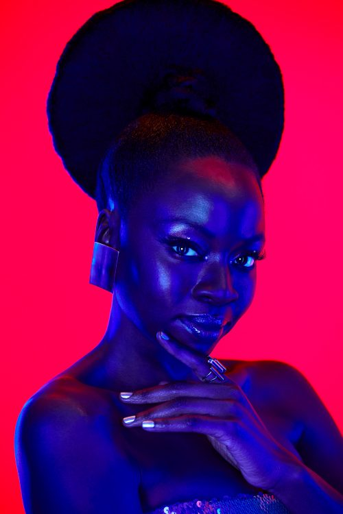 Danai Gurira Gel Light Portrait Photography