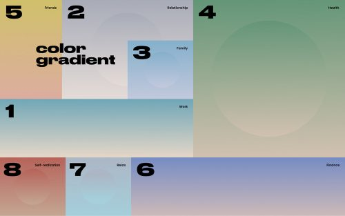 Color Balance Gradient Layout Design