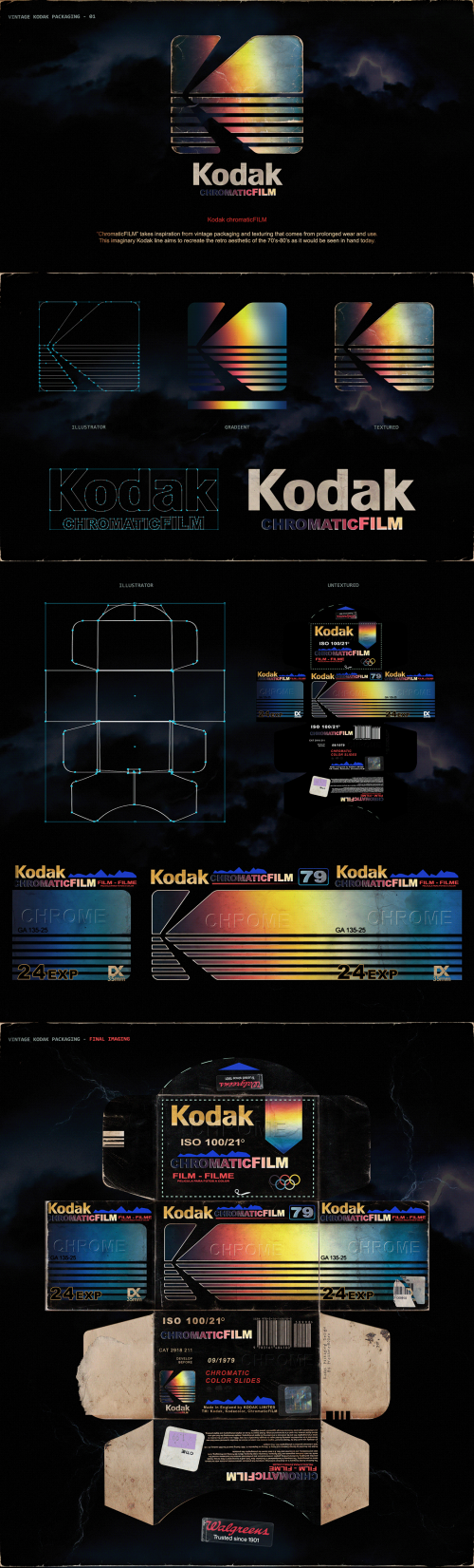 Kodak Chromatic FILM Logo and Packaging Design