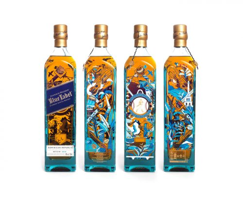 Johnnie Walker Blue Cities Dominican Republic Alcohol Whiskey Illustrated Packaging Product Design