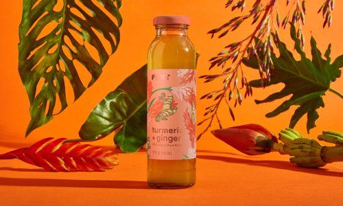 PLNT Beverage Tropical Bottle Packaging Design